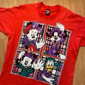 Vintage Mickey Unlimited T Red Shirt 1990s